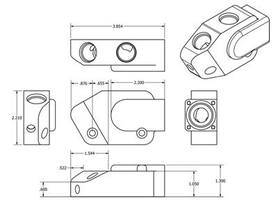 Improved Racing EGM-112 Oil Cooler Adapter Dimensions