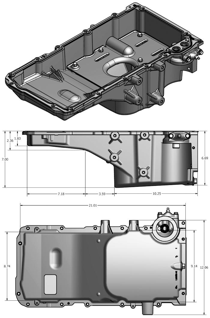 LS2 / LS6 / LSA Cadillac CTS-V Oil Pan